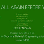 Zebulon Zang Lecture: Say It All Again Before You Go