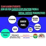 CLAH & AASM Interested Students: Join us for a Career Exploration from a Social Justice Perspective!