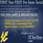 FIRST year FIRST Pre-Game Social