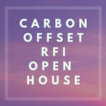 Carbon Offset RFI Open House - Main Campus