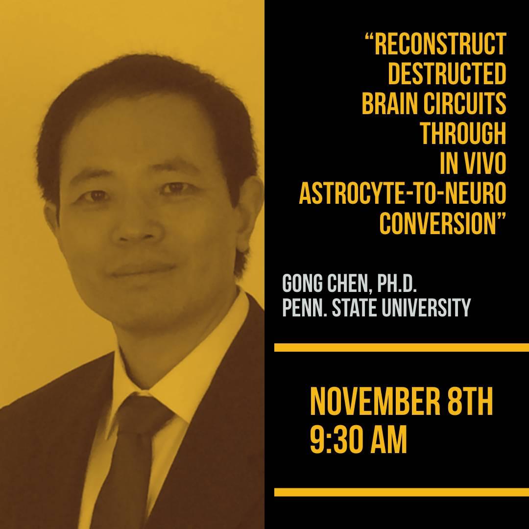SoCal Stem Cell Colloquium Seminar Series, Presents: Gong Chen, PhD