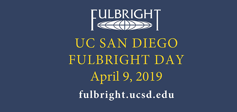 Ucsd Calendar 2020-2021 UC San Diego Fulbright Day April 9!