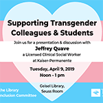 Supporting Transgender Colleagues & Students Lunch-and-Learn